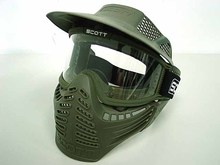 Black / Green Anti Fog Military Tactical Paintball Full Face Outdoor Airsoft CS War