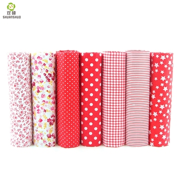 7pcs 24x24cm Mixed Printed Cotton Sewing Quilting Fabrics Basic Quality for Patchwork Needlework DIY Handmade Cloth 1