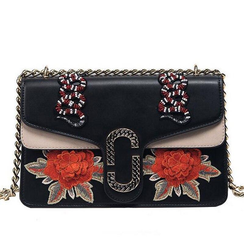 Famosas Marcas de Flores bolsa de Hombro de la cadena bolso De Noche del Diseñad