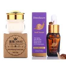 Dimollaure herbal whitening cream +Snail serum Moisturizers Freckle melasma speckle sunburn pigment Melanin Acne Spots face care dimollaure herbal whitening cream kojic acid serum remove melasma freckle speckle sunburn spots pigment melanin acne face crea
