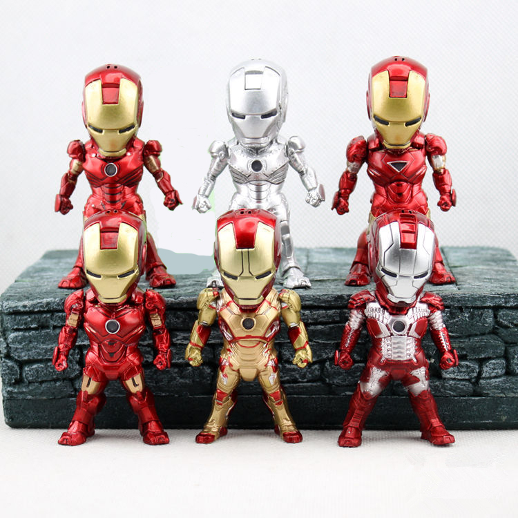 Iron man 3 action figure toys 1 10 scale painted figure - Mini iron man ...