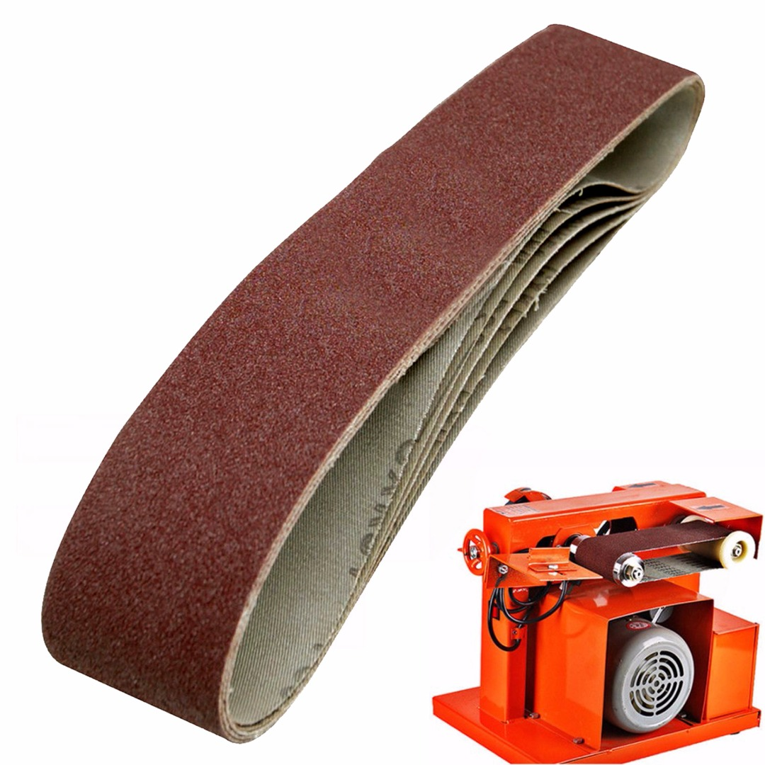 Image 4 - 10Pack 686*50mm Sanding Belts 40 1000 Grit  Aluminium Oxide Sander Sanding Belts-in Abrasive Tools from Tools