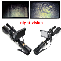 Hunting Night Vision Riflescope Outdoor Hunting Scopes Optics Sight Tactical Digital Infrared With Monitor And Flashlight