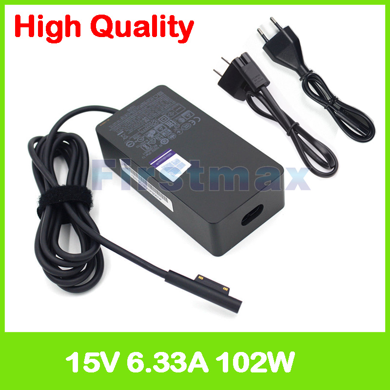 15V 6.33A 102W charger 1798 laptop ac power adapter for Microsoft Surface Book Core i7 with Performance Base Model 1785-in Tablet Chargers from Computer & Office    1