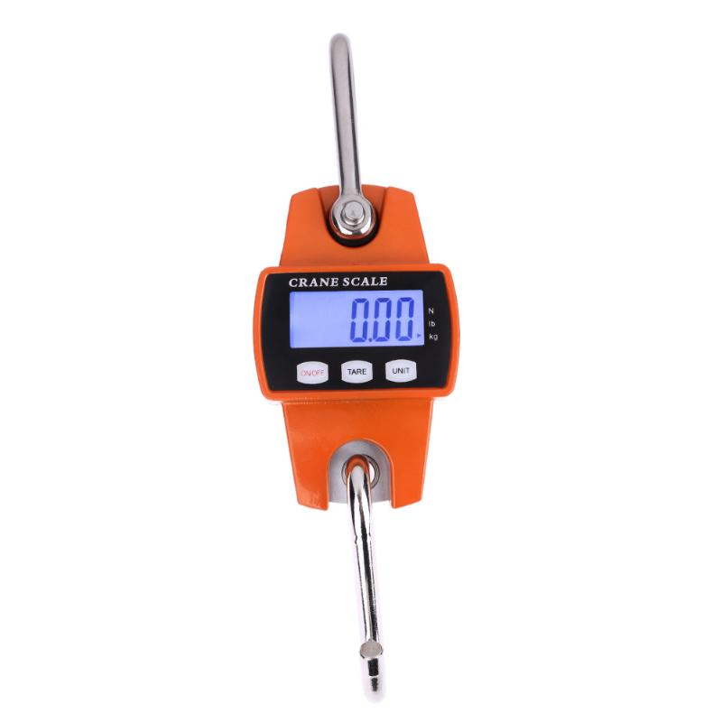 300kg Mini Crane Scale Portable LCD Digital Electronic Stainless steel Hook Hanging Weight Crane Scales Weighing Balance цена