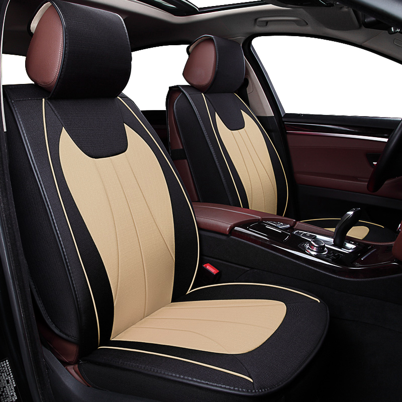 KOKOLOLEE Flax Car Seat Covers for KIA RIO K2/3/4/5 Cerato Sportage cars cushion auto accessories car styling car wind leather auto car seat covers for kia sportage 3 camry 40 renault megane 3 interior seat covers for car accessories