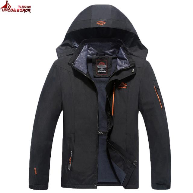 UNCO&BOROR Size 6XL 7XL 8XL Male Jacket Spring Autumn Quality Brand Waterproof Windproof Jacket Coat Tourism Mountain Jacket Men