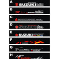 Free shipping Automobile label car stickers for SUZUKI Jimny Front windshield stickers
