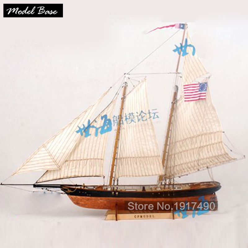 Toys & Hobbies Lovely Wooden Ship Models Kits Educational Toy Model-ship-assembly Diy Train Hobby Wooden Ship 3d Laser Cut Scale 1/72 America 1851 Convenient To Cook Model Building