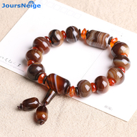 Wholesale Multicolor Wrapped Silk Natural Crystal Bracelets Bead Size 18mm Tibetan Style Hand String Women Men Crystal Jewelry