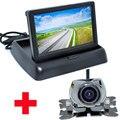 """4.3 """"de Vídeo a cores LCD Monitor Do Carro Dobrável Auto Estacionamento Assistência + Universal Câmera Do Carro de backup CCD de Visão Noturna Câmera de Visão Traseira"""