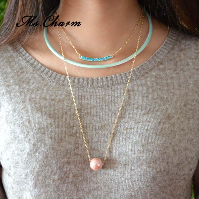 2d1a721370b3 Declaración bisutería estilo largo de Bohemia 2016 collares de múltiples  capas de moda suéter cadena diseños para mujeres niñas moda 2015 en  Gargantilla ...
