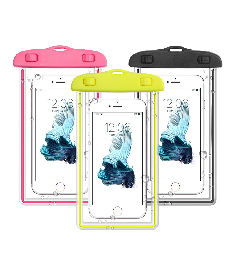 200pcs/lot Universal waterproof phone bag Pouch case for iPhone Samsung galaxy s6 s5 S7 dhl free