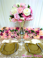 Elegant Gold Silver Short Small Metal Flower Vases Trophy Shape 3 Sizes for Wedding Event Party Decoration