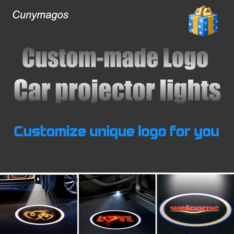 2PCS Wireless Car LED door Logo Projector Laser Shadow Lights Films Pattern Card