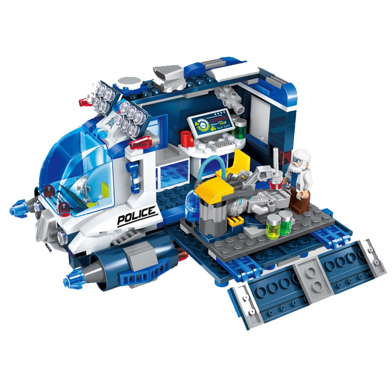 1612 ENLIGHTEN Space Adventure Mobile Repair Station Model Building Blocks DIY Action Figure Toys For Children Compatible Legoe 1120 enlighten city happy journey truck camping car model building blocks diy action figure toys for children compatible legoe