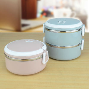 2 Layers leakproof 304 Stainless Steel lunch Box Portable Picnic Food Container bento tiffin box thermal storage box