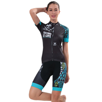 2017 Lycra Cycling Jersey Women S Spring And Summer Short Sleeve Set Customized 13 Colors Sponge