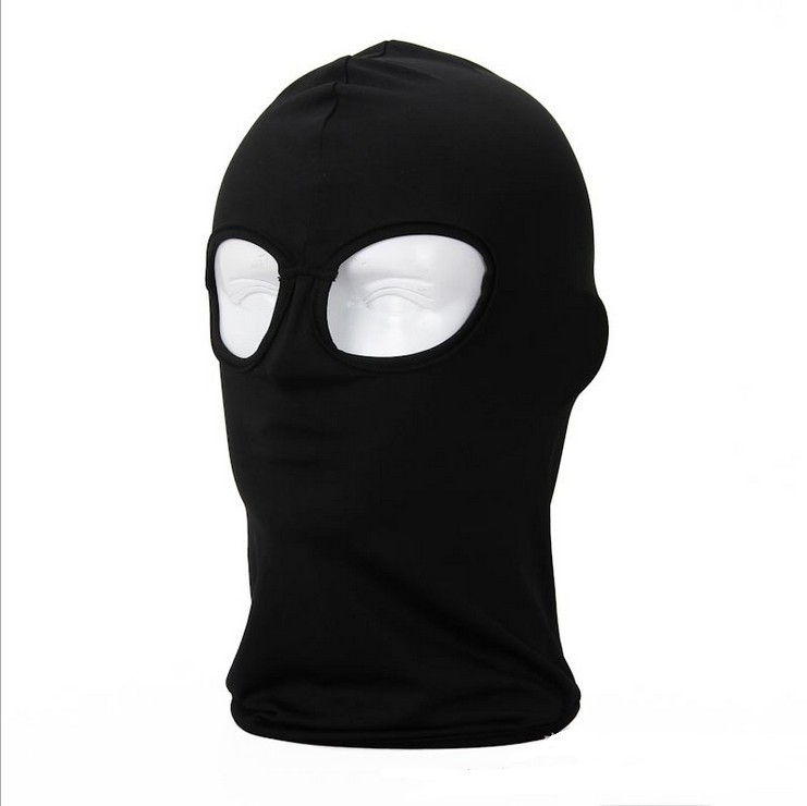 Detail Feedback Questions about 2 Hole Black White Winter Balaclava Hat  Military Tactical Airsoft Bicycle Windproof Military Army Paintball Full  Face Mask ... cdd0c2690a53