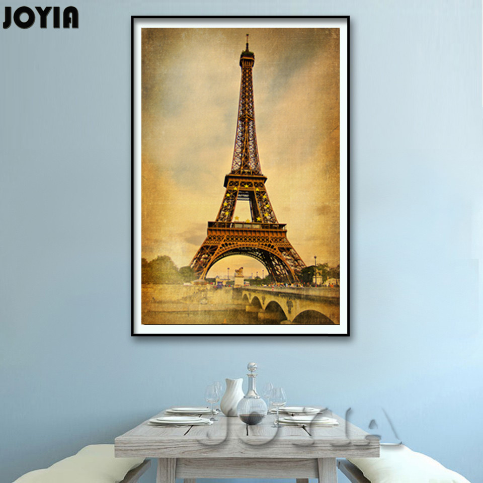 Paris Retro Style Canvas Painting Pictures, Modern Home Walls Decor ...