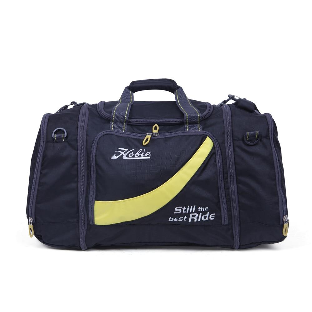 NEWCOM 50L sac de voyage bagage à main unisexe sac pour sacs de voyage pour femmes hommes sac de sport de plein air grand noir jaune