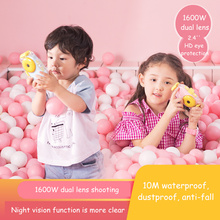 kids Camera Waterproof IP68 Mini SLR Sport Dual Lens Photography Digital 2.4 1600W HD Night Shot Video Kids Gift