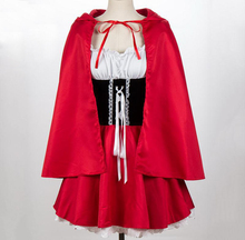 Fantasia Little Red Riding Hood Costume For Adult Women Halloween Carnival Festival Cosplay Performance Fancy Dress