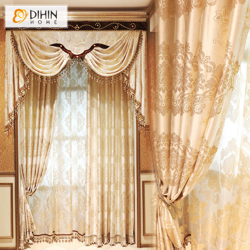 2016 Pastoral Printed Castle Window Curtains For Living