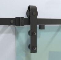 DIYHD 150 см 244 см черный деревенский раздвижные сарай стеклянные двери раздвижные трек оборудование интерьер, стекло, фурнитура для раздвижных