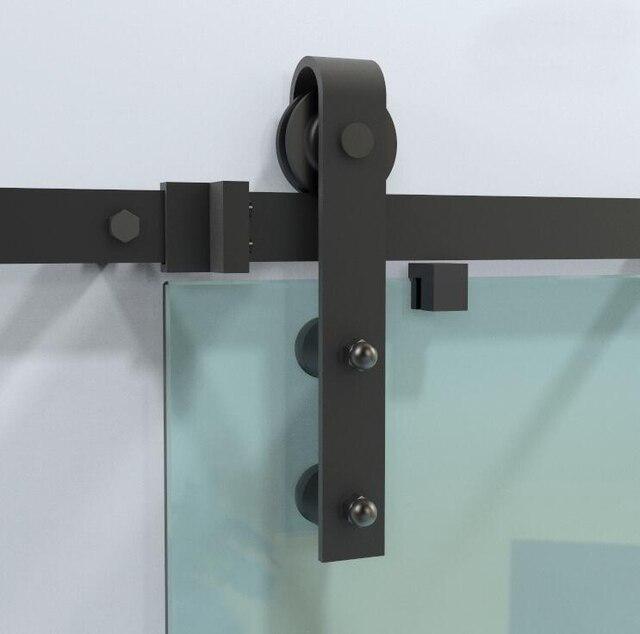 Diyhd 150cm 244cm Black Rustic Sliding Barn Glass Door Track Hardware Interior