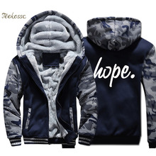 Hope Jacket Men Funny Printed Hooded Sweatshirt Coat New Brand Winter Thick Fleece Warm Zip up Hoodie Graphics Design Streetwear кеды женские puma cali velvet wn s цвет бордовый 36988701 размер 7 39 5