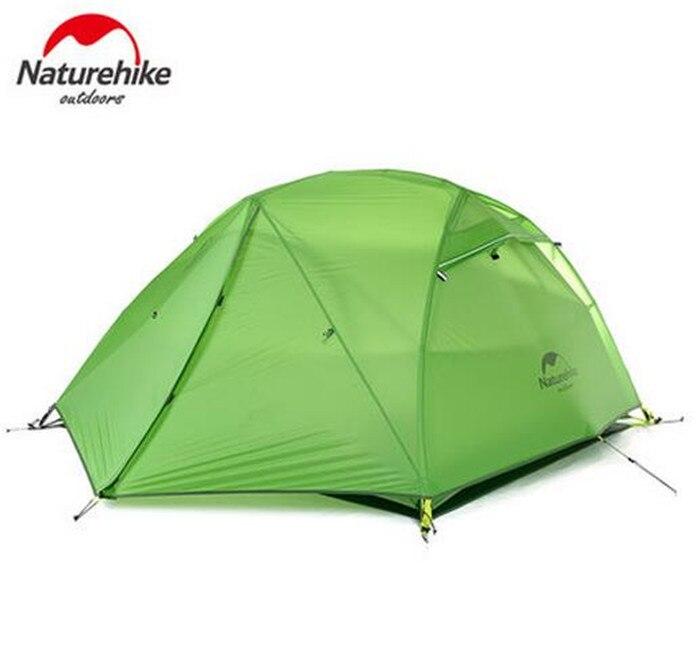 Naturehike 4 Saison Tente 2 Personne Couple Voyage Camping 20D Double Couches Étanche À La Pluie Tente Avec Empreinte de Neige Jupe Anti Neige