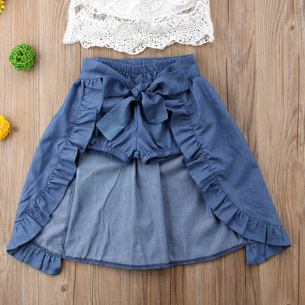 Newborn Girl Kid Lace Off shoulder Solid T shirt Top Pants Bowknot Dress Party Outfits Clothes Casual Short Sleeve Clothing in Clothing Sets from Mother Kids