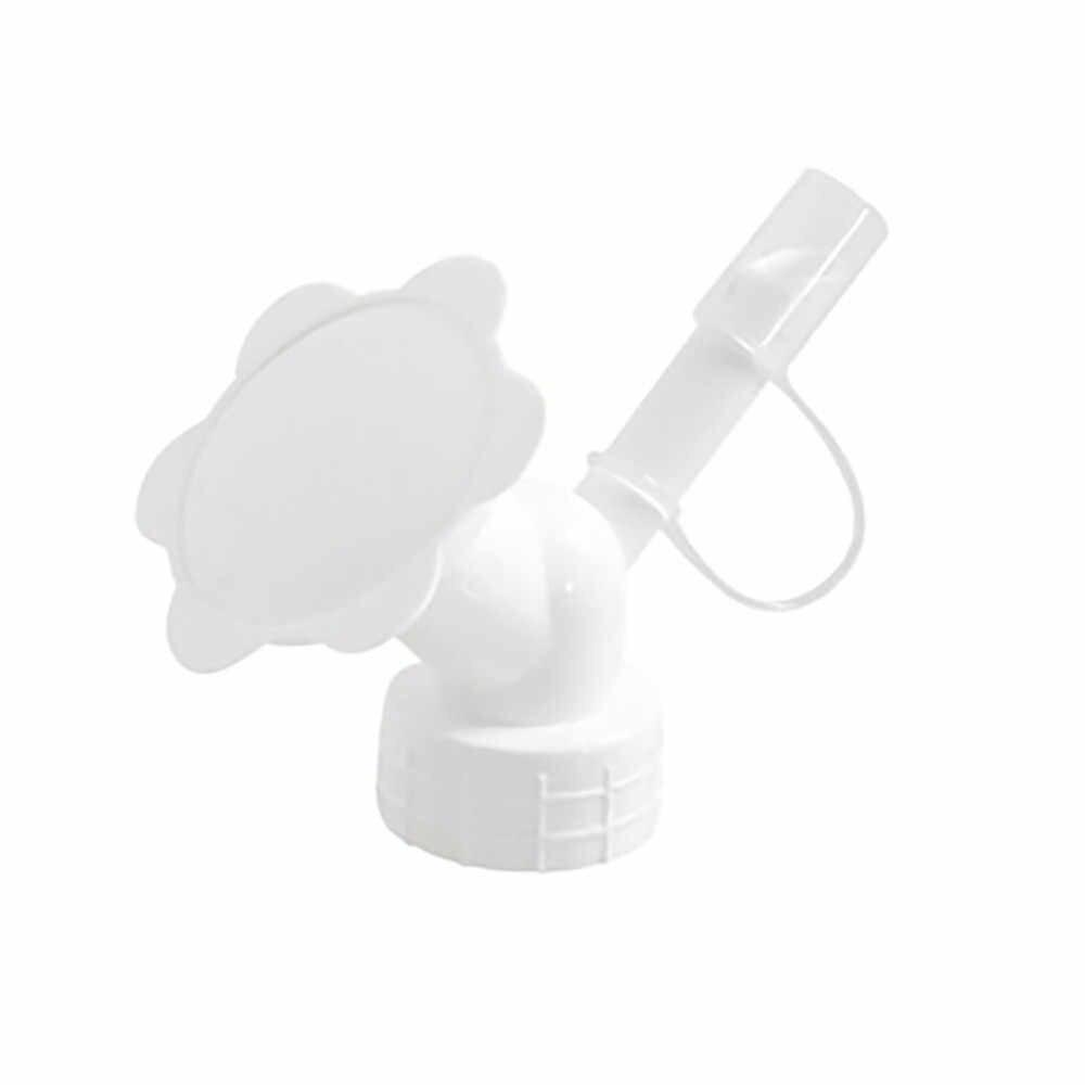 Água pode jardim 2in1 bocal de aspersão de plástico para flores waterers garrafa rega latas aspersão giardinaggio