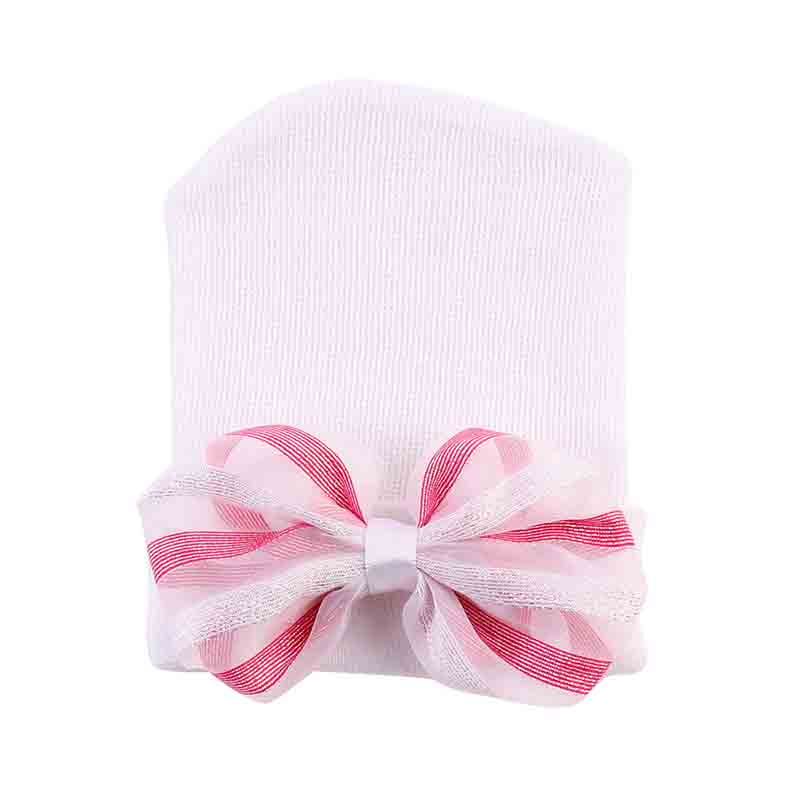 Newborn Baby Hat Warm Soft Bowknot Knitted Beanie Hat Caps Cute Toddler Kids Hospital Hat Photography props Accessories new arrival lovely newborn hospital hat cute girls baby hats with flower bowknot flower hat high quality