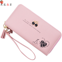 2019 PU Women Wallet Best Design High Quality Fashion Wallet Female Girls Phone Pocket Purse Card Holder Long Clutch Coin Purse 3 fold pu leather women wallet clutch famous brand design ladies purse card phone holder notecase clutch long burse coin pocket