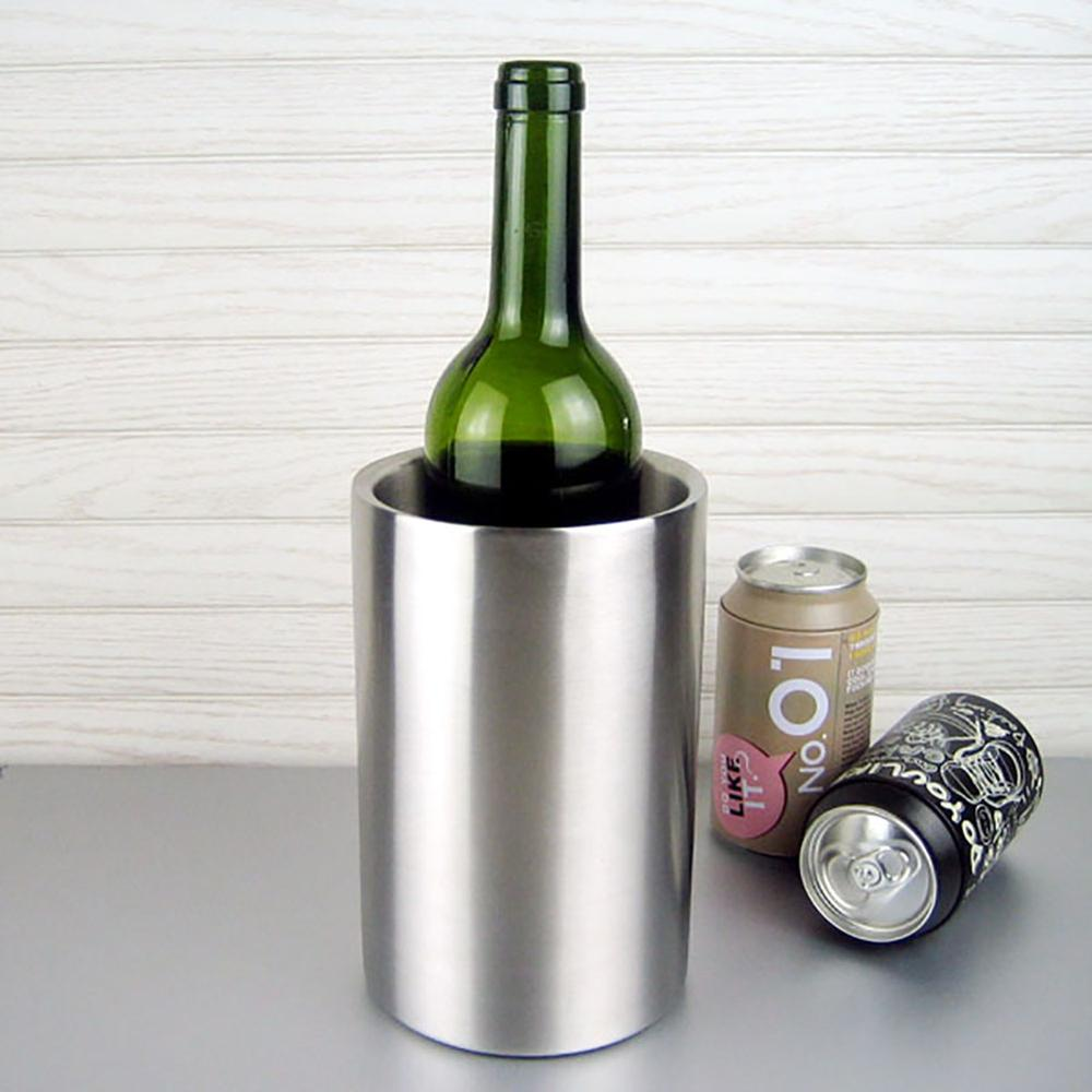 popular wine cooler bucketbuy cheap wine cooler bucket lots from  - stainless steel ice bucket whisky beer wine cooler chiller champagne winebottle barrel cooler bar tools