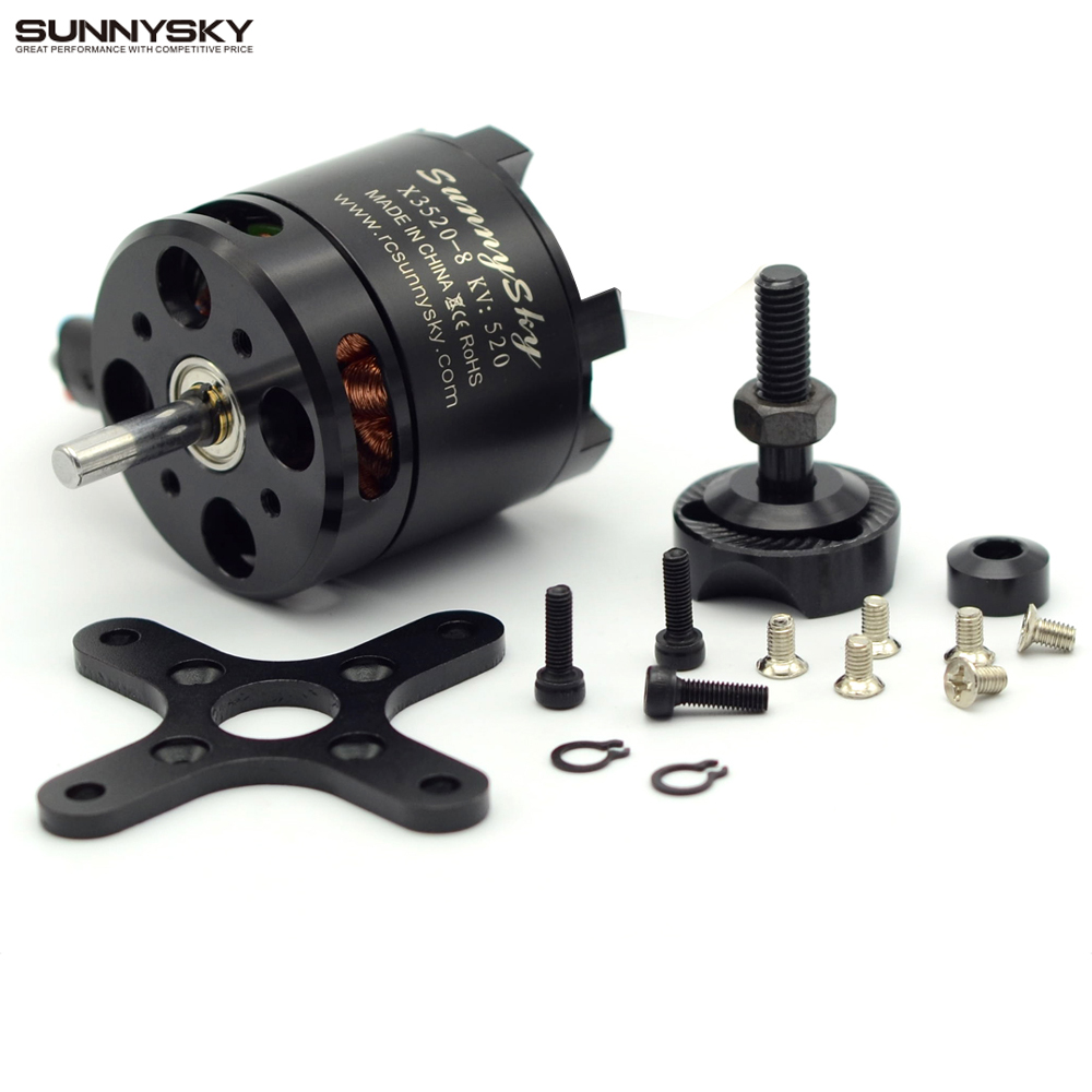 Sunnysky X3520 KV520 KV720 KV880 6S Brushless Motor For RC Models FPV Quadcopter drones sunnysky x3525 520kv 720kv 880kv brushless motor x series kv520 kv720 kv880 motor kit for fpv multicopter quadcopter drone uav
