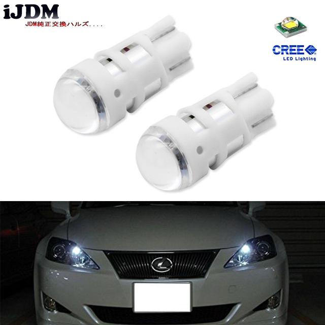iJDM car styling T10 LED Xenon White 168 194 2825 W5W LED Replacement Bulbs For Car License Plate Lights,Parking Lights 12V