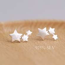 925 Sterling Silver Star Stud Earrings For Women Casual Style Girl Earings Personality Sterling-silver-jewelry