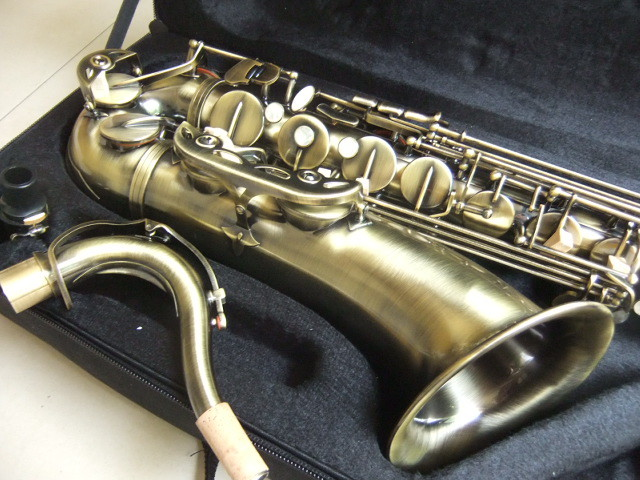 No Brand tenor saxophone instruments Reference 54 bronzed top quality 110715 free shipping new high quality tenor saxophone france r54 b flat black gold nickel professional musical instruments