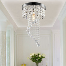 Современная хрустальная лампа K9, потолочный светильник из нержавеющей стали, светодиодная лампа для спальни, потолочный светильник, светодиодный потолочный светильник