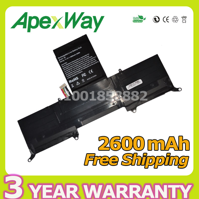 Apexway 2600mAh 11.1v laptop battery for Acer AP11D3F AP11D4F 3ICP5/65/88 3ICP5/67/90 KB1097 Aspire S3 Ultrabook 13.3 S3-951 jigu laptop battery ap11d3f ap11d4f for acer acer aspire s3 s3 351 s3 951 s3 371 ms2346 series