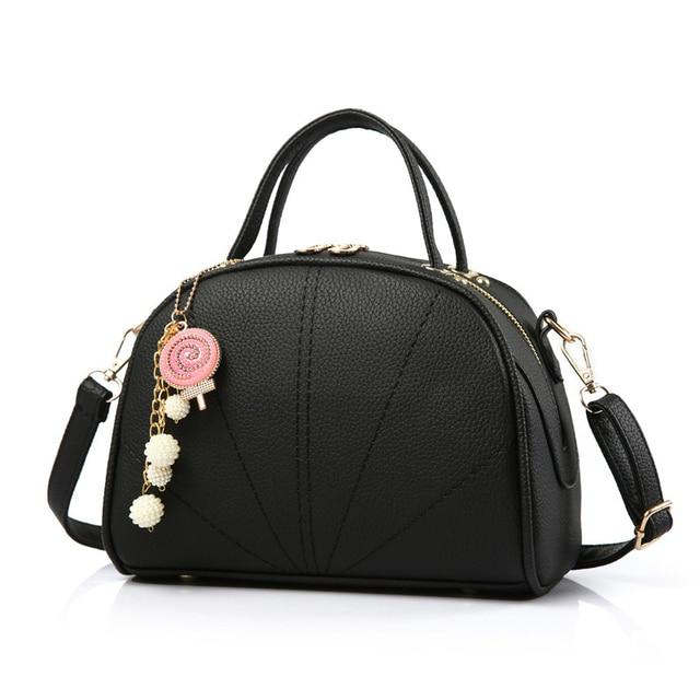 New Top-handle Bags Tote Women Handbags PU Leather Fashion Casual Shell Solid Pattern Women Messenger Shoulder Bags Purse bolsas