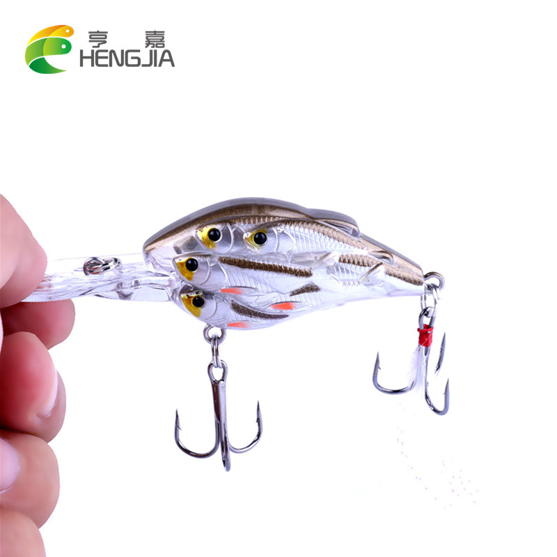 HENGJIA 1pc Crankbait floating Fishing Lure Swimbait Isca Artificial Bait Fishing Wobbler 7.5cm 9g pesca peche strong hook 1pcs 12cm 14g big wobbler fishing lures sea trolling minnow artificial bait carp peche crankbait pesca jerkbait ye 37