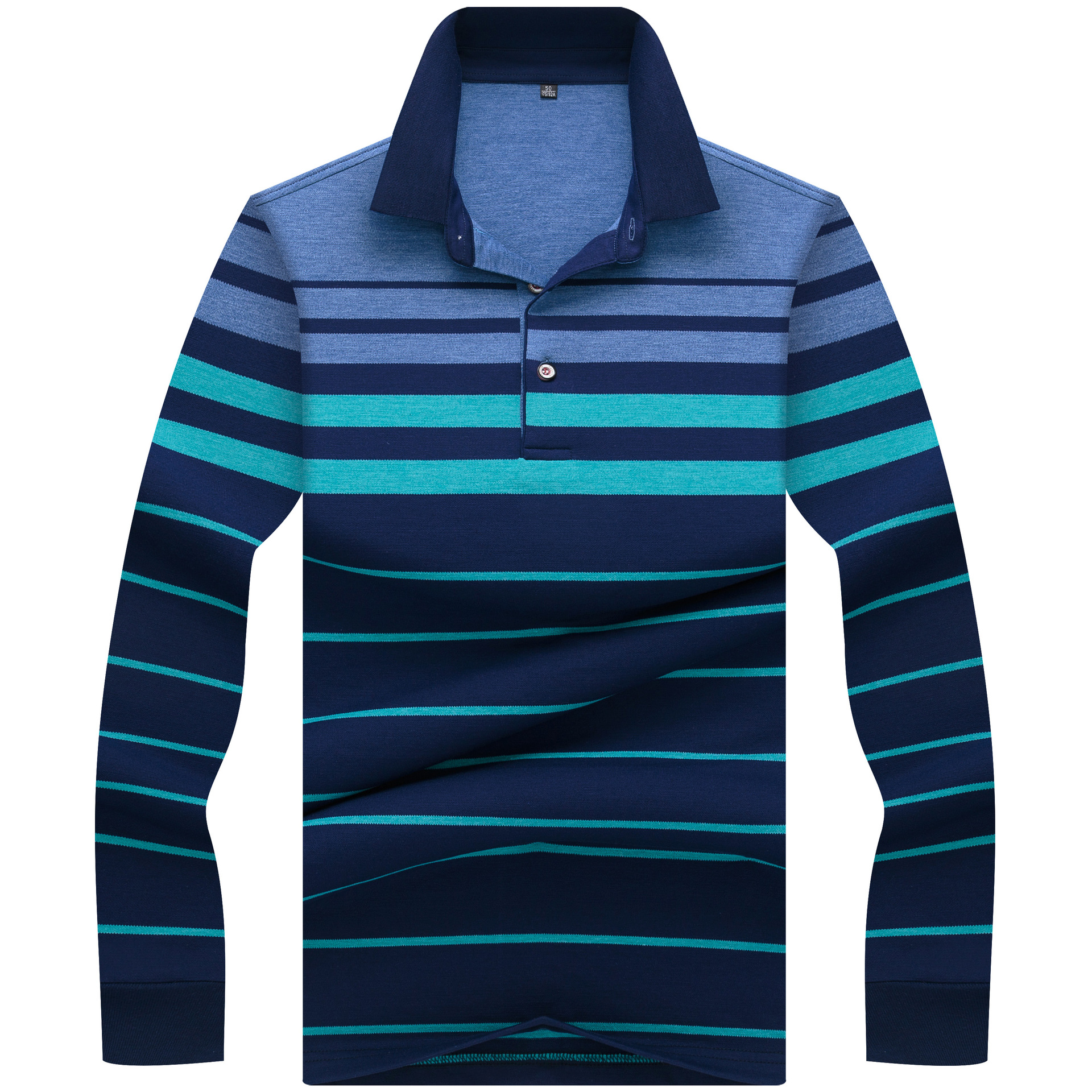 Brand New Men   Polo   Shirts 2018 Autumn Winter Breathable Camisa Masculina Soft Cotton long sleeve Striped   Polo   Men