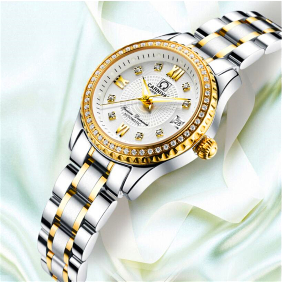 Luxury Brand Relogio Feminino Date Clock Female Waterproof 30M Watch Ladies Fashion Casual Watch Mechanical Wrist Women Watches new brand relogio feminino date day clock female stainless steel watch ladies fashion casual watch quartz wrist women watches