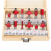 12Pcs Lot 1 4 Inch 6 35MM Professional Shank Tungsten Carbide Router Bit Cutter Set With