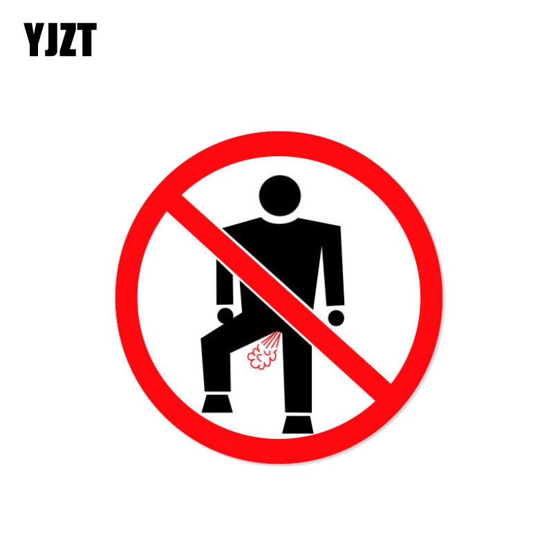 YJZT 12CM*12CM Warning No Farting Car Sticker Funny Decorate Decal PVC 12-0993