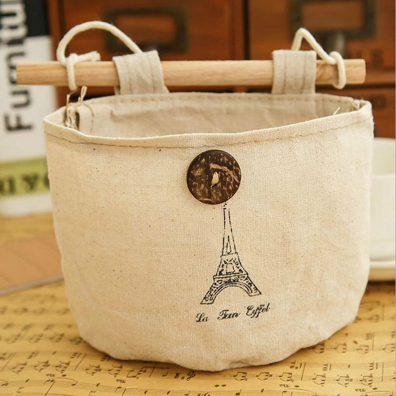 6 Styles Storage Bag Wall Sundry Fabric Cotton Pocket Hanging Holder ...